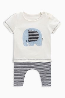 Next Elephant T-Shirt And Leggings Set (0mths-2yrs)