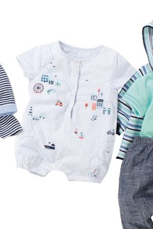 Next Embroidered Grid Romper (0mths-2yrs)