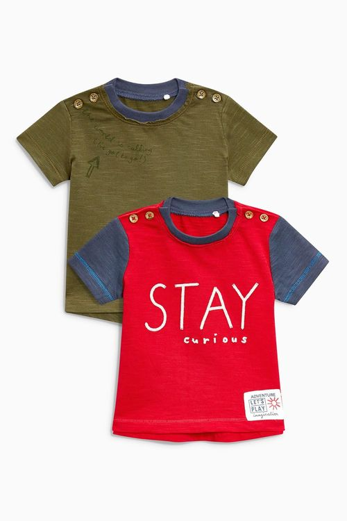 Next Slogan T-Shirts Two Pack (0mths-2yrs)