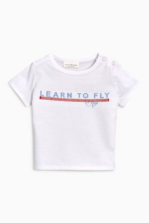 Next Paper Plane Graphic T-Shirts Three Pack (0mths-2yrs)