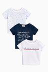 Next Paper Plane Graphic T-Shirts Three Pack (0mths-2yrs)