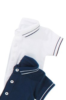 Next White Poloshirt Bodysuit (0mths-2yrs)