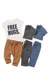 Next Hugs Slogan T-Shirts Three Pack (0mths-2yrs)