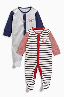 Next Badge Sleepsuits Two Pack (0mths-2yrs)