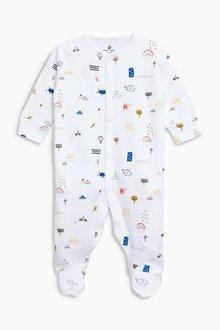 Next Monkey Print Sleepsuits Three Pack (0mths-2yrs)