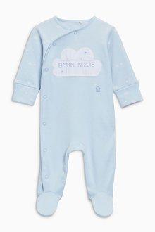 Next Blue Born In 2018 Sleepsuit (0-9mths)