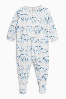 Next Bright Jungle Animal Sleepsuits Three Pack (0mths-2yrs)