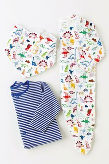 Next Dino Sleepsuits Two Pack And Bib (0mths-2yrs)