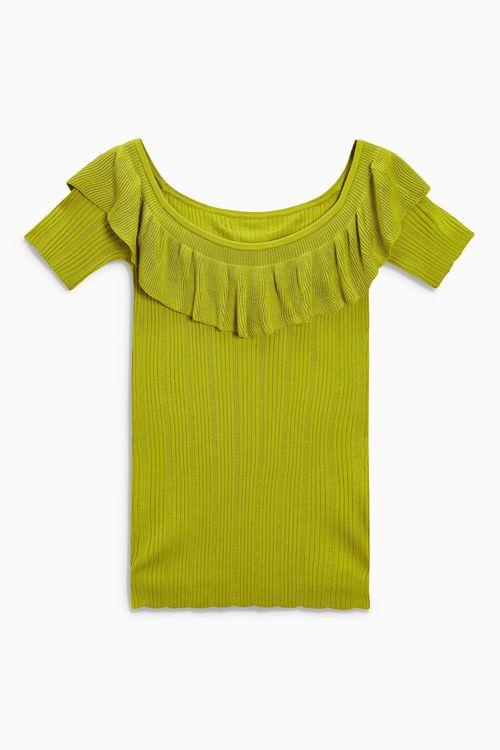 Next Bardot Ruffle Sweater