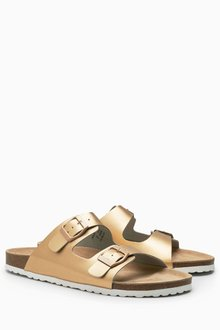Next Leather Double Buckle Sandals
