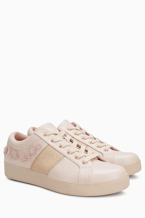 Next Floral Lace-Up Trainers