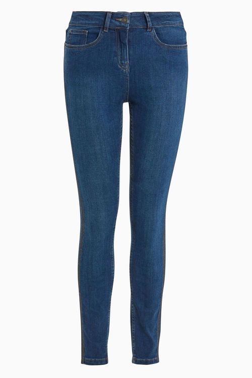 Next Side Tape Skinny Jeans - Petite