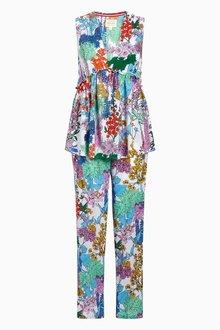 Next Floral Ruffle Pyjama Set