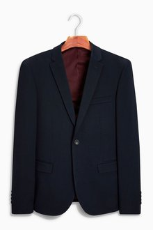 Next Stretch Twill Suit: Jacket - Super Skinny Fit