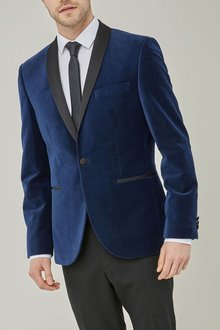 Next Spot Printed Velvet Slim Fit Jacket