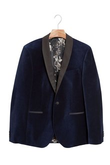 Next Velvet Jacket - Slim Fit