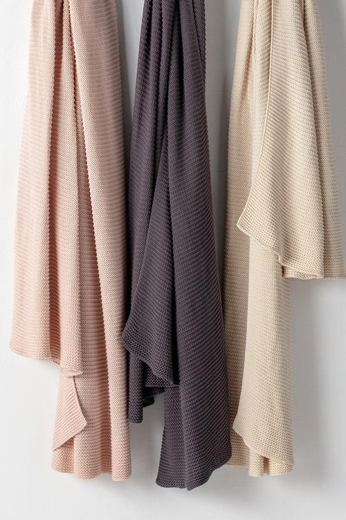 Cotton Knit Chunky Throw