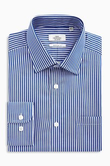 Next Stripe Regular Fit Shirt With Pocket