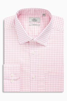 Next Gingham Shirt - Slim Fit Single Cuff