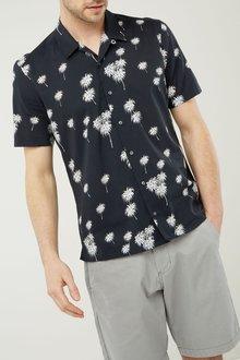 Next Short Sleeve Palm Print Shirt