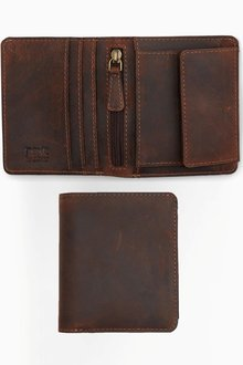 Next Leather Coin Pocket Wallet