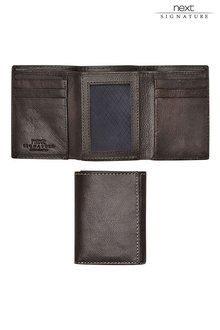 Next Signature Italian Leather Trifold Wallet