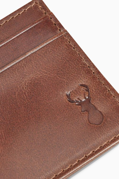 Next Stag Embossed Leather Cardholder