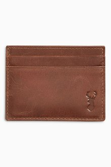 Next Stag Embossed Leather Cardholder - 205326