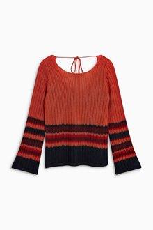 Next Tie Back Stitch Sweater