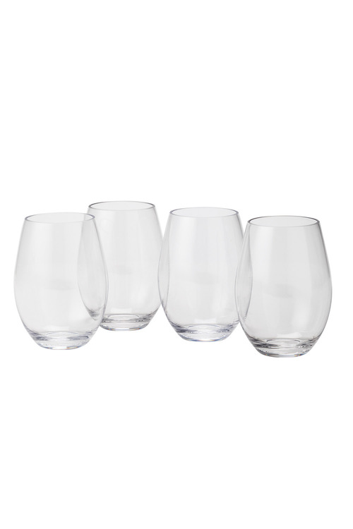 Tritan Outdoor Stemless Red Wine Set of 4