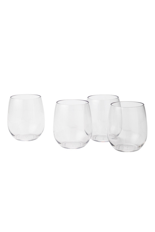 Tritan Outdoor Stemless White Wine Set of 4