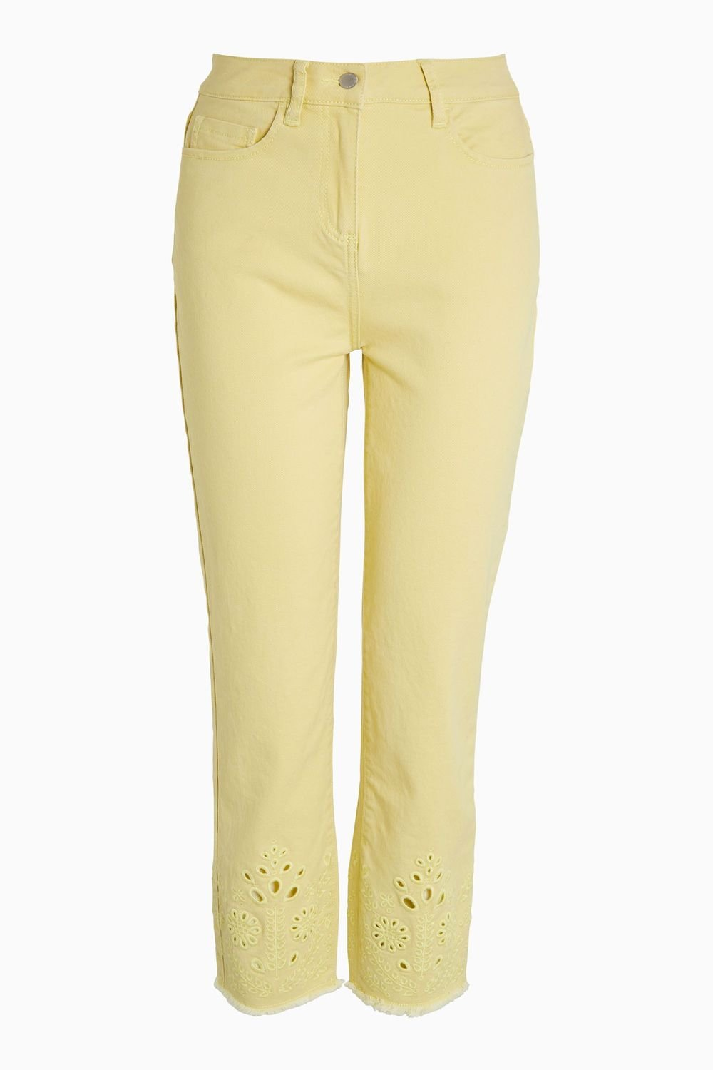 Next Embroidered Cut Out Cropped Jeans Online | Shop EziBuy