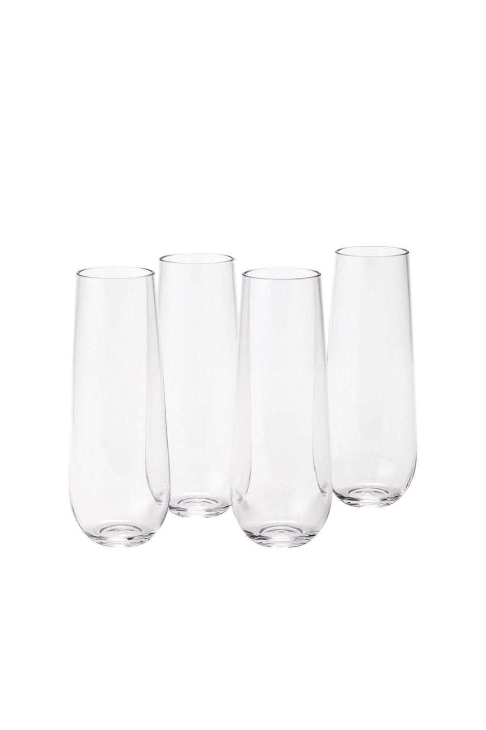 Tritan Outdoor Stemless Champagne Flute Set Of 4