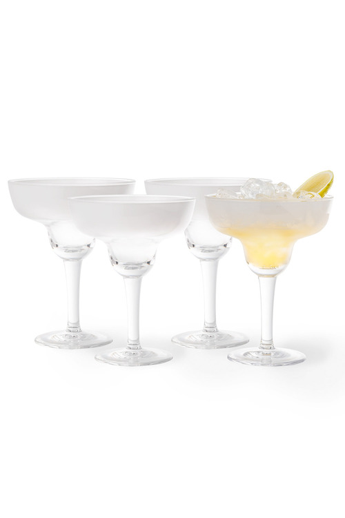 Resin Frosted Margarita Set of 4