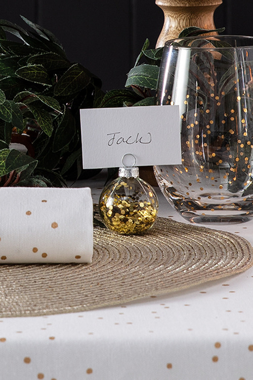 Glass Bauble Placecard Holders Set 4