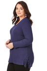 Plus Size - Beme 3/4 Sleeve Pearl Knit Jumper