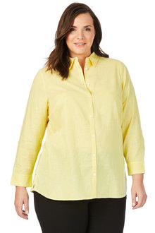Plus Size - Beme 3/4 Sleeve Shirt