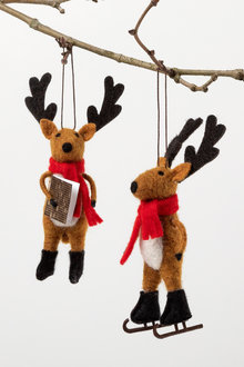 Felt Reindeer Ornament Set 2