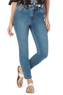 Rockmans 7/8 Eyelet 365 Slim Leg Jean