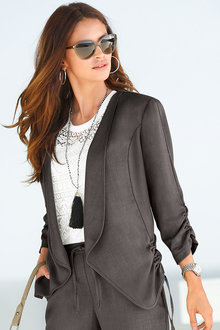 Euro Edit Ruched Detail Jacket