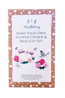 Make Your Own Flower Crown and Bracelet Set
