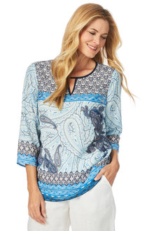 W.Lane Paisley Placement Top