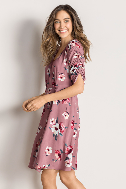 Emerge Fit and Flare Button Dress