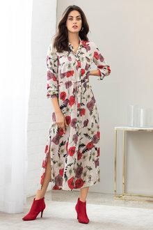 Grace Hill Longline Shirt Dress