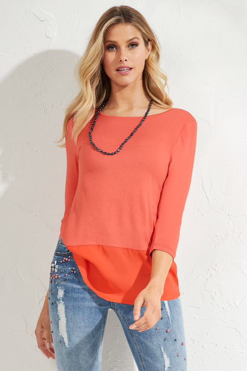 Urban Contrast Trim Top