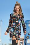 Urban Lace Up Shift Dress