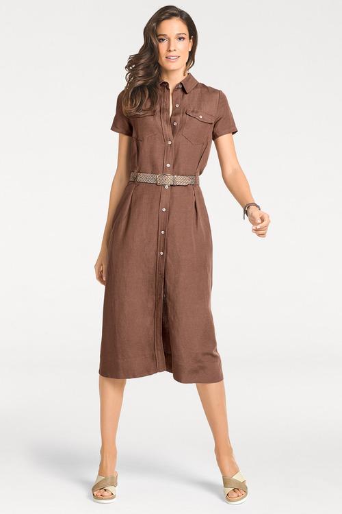 Heine Linen Shirt Dress