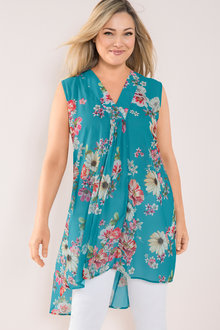 Plus Size - Sara Sleeveless Fashion Tunic
