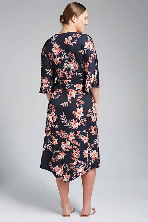 Plus Size - Sara Cross Over Dress