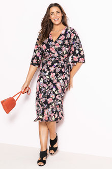 Plus Size - Sara Crossover Dress